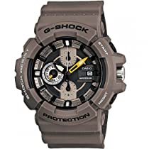 Casio G-Shock Chronograph Black Dial Khaki Resin Mens Watch GAC100-8ACR