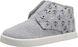 Toms Tiny Paseo-Mids Grey Chambray Anchors 10007692 Shoes 11T
