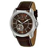 Bulova Mens 96A108 Stainless Steel and Brown Leather Automatic Mechanical Watch