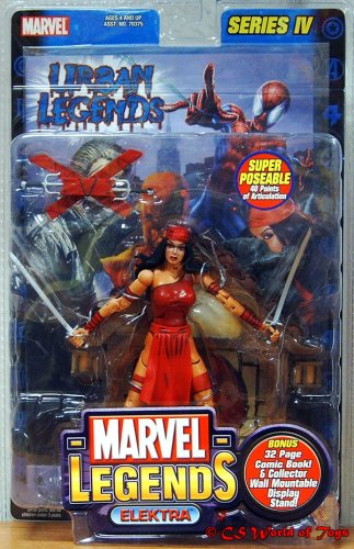 Buy Low Price Toy Biz Marvel Legends Series 4 Action Figure Elektra (B000GLWBQO)