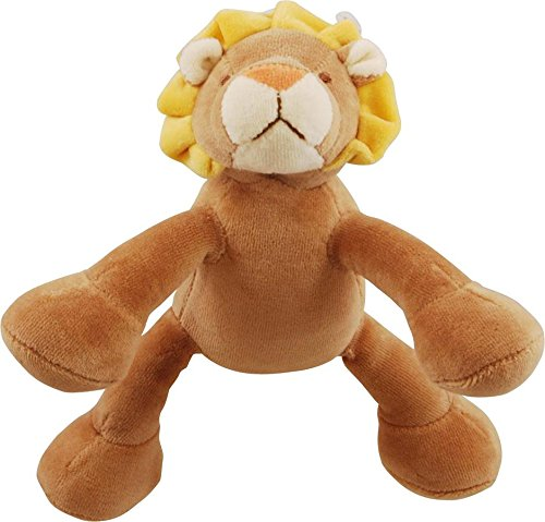 Good Simply Fido Leo 6-Inch Petite Brown Lion Squeaker Dog Toy