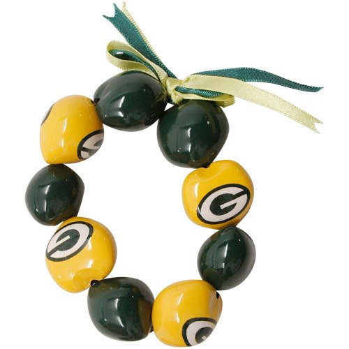 NFL Green Bay Packers Go Nuts Kukui Nut Bracelet from Style Pasifika