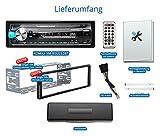 XOMAX-XM-RSU252BT-Autoradio-mit-Bluetooth-Freisprechfunktion-USB-Anschluss-bis-128-GB-SD-Kartenslot-bis-128-GB-fr-MP3-und-WMA-AUX-IN-Verkrzte-Einbautiefe-Single-DIN-1-DIN-Standard-Einbaugre-abnehmbare