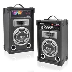 Pyle PSUFM835A 800 Watt 2-Way Speaker Systems, USB/SD Card Readers, FM Radio, AUX Input at Sears.com