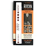 SUCK UK Music Ruler - 30cm Ruler with Musical Guidebook