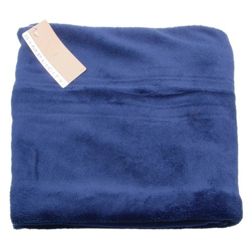 2 Count Wholesale Cozy Versatile Plush Blankets Throw Home Decor Cobalt Blue
