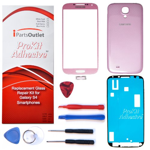S4 Prokit Adhesive Repair Kit For Samsung Galaxy S4 Replacement Screen Glass Lens Repair Kit S4 Iv I9500 S4 Prokit Adhesive (Pink Twilight)