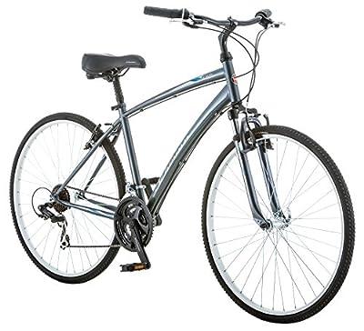 Schwinn Network 1.0 700c Men's 18 Hybrid Bike, 18-Inch/Medium, Grey