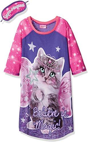 [Imagine Big Girls' Fairy Cat Raglan Sleeve Dorm, Multi, M] (Cat Masks For Kids)