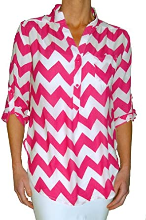 Fantastic Womens Plus Size Chevron Print Sheer Bow Back Tank Blouse At Amazon Womenu2019s Clothing Store