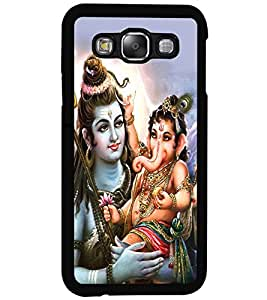 PRINTSWAG LORD SHIVA WITH GANESH Designer Back Cover Case for SAMSUNG GALAXY E5