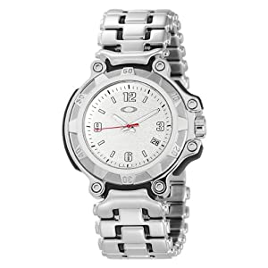 Oakley Women's 10-242 Crankcase Three-Hand Small Stainless Steel Bracelet Edition Watch