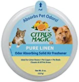 Citrus Magic Pet Odor Absorbing Solid Air Freshener, Pure Linen, 8-Ounce