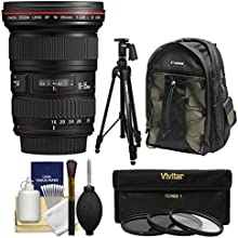 Canon EF 16-35mm f28 L II USM Zoom Lens with Canon Backpack  Pistol-grip Tripod  3 UVCPLND8 Filters