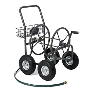 Liberty Garden Products 840-1 Residential Grade 4-Wheel Garden Hose Reel Cart with 250-Feet Hose Capacity