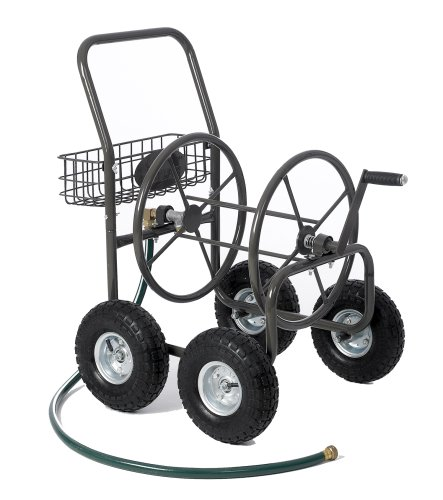 Liberty Garden Products 840-1 Residential Grade 4-Wheel Garden Hose Reel Cart with 250-Foot-Hose Capacity