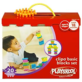 Playskool Clipo Basic Blocks Set