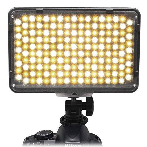 Mcoplus® 168 Bi-colore 3200K - 7500K Ultra High Power pannello fotografia professionale fotocamera digitale / videocamera LED Studio illuminazione a LED per la fotocamera reflex digitale, Canon, Nikon, Pentax, Panasonic, Samsung e Olympus