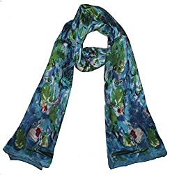 Olina Women's High-Grade Elegant 100% Luxury Long Silk Scarf Shawl (LS012)