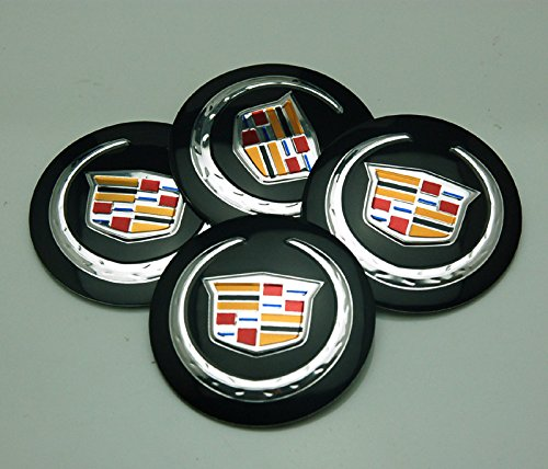 BENZEE 4pcs D036 56.5mm Car Emblem Badge Sticker Wheel Hub Caps Centre Cover Black Cadillac ATS CTS EXT (Cadillac Car Stickers compare prices)