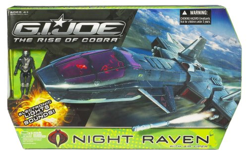 Cheap Gi Joe Movie 3.75 Echo Vehicle Night Raven with Air Viper