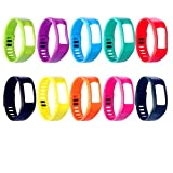 Colorful Spots Replacement Wrist Band for Garmin Vivofit (No Tracker, Replacement Bands Only) (10Colors, Small)