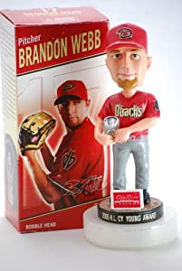 2007 - BD&A MLB - Brandon Webb #17 - Bobblehead Doll - Cy Young Award Winning... by BD&A