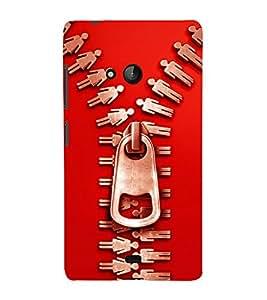 printtech Chain Cool Back Case Cover for Nokia Lumia 540::Microsoft Lumia 540