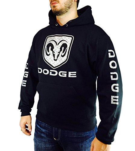 dodge-ram-diamond-plate-cut-unisex-black-hoodie