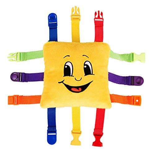BUCKLE-TOY-Bongo-Toddler-Early-Learning-Basic-Life-Skills-Childrens-Plush-Travel-Activity