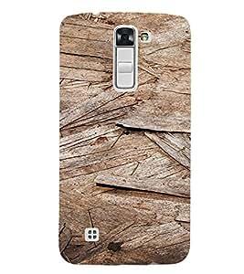PrintVisa Wooden Flakes Pattern 3D Hard Polycarbonate Designer Back Case Cover for LG K7