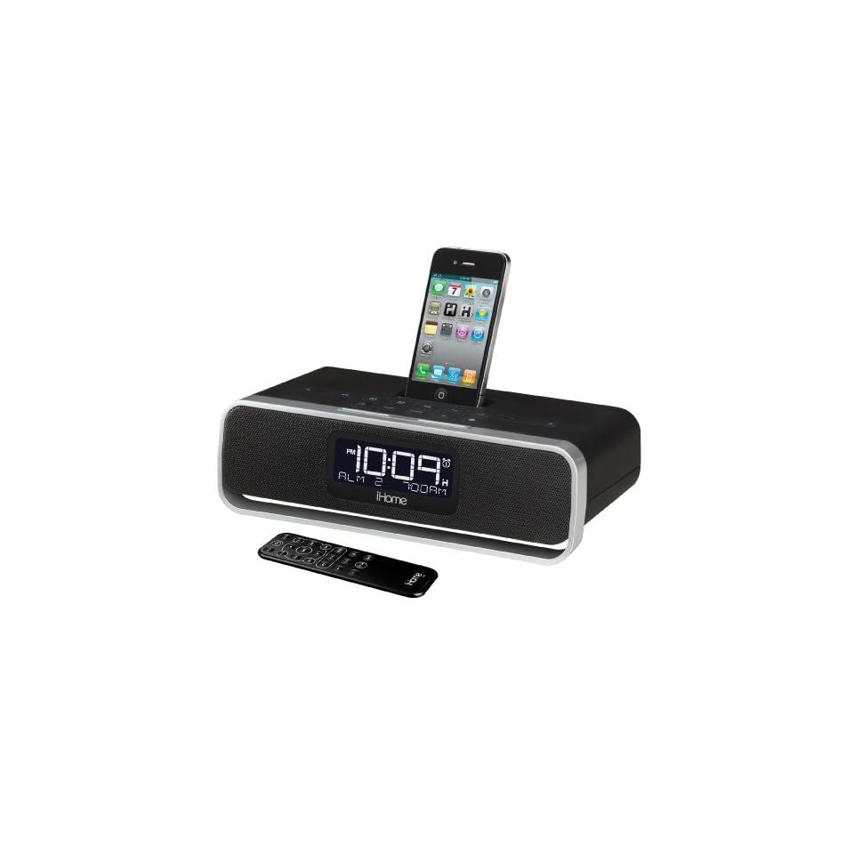 iHome iA92BZ App enhanced Dual Alarm Stereo Clock Radio for iPhone/iPod with AM/FM presets