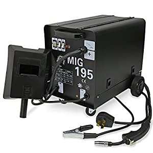 MIG Series Gas-Less Flux Core Wire Welder Welding Machine Automatic Feed Unit DIY (MIG-195) by XtremepowerUS from XtremepowerUS