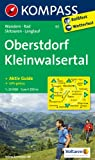 Oberstdorf - Kleinwalsertal: Wanderkarte mit Aktiv Guide, Radwegen, Loipen und alpinen Skitouren. GPS-genau. 1:25000