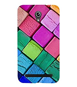 Colourful Squares 3D Hard Polycarbonate Designer Back Case Cover for Asus Zenfone Go ZC500TG (5 Inches)