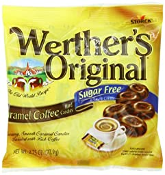 Werther\'s Sugar Free Hard Candies, Caramel Coffee, 2.75 Ounce Bags (Pack of 12)