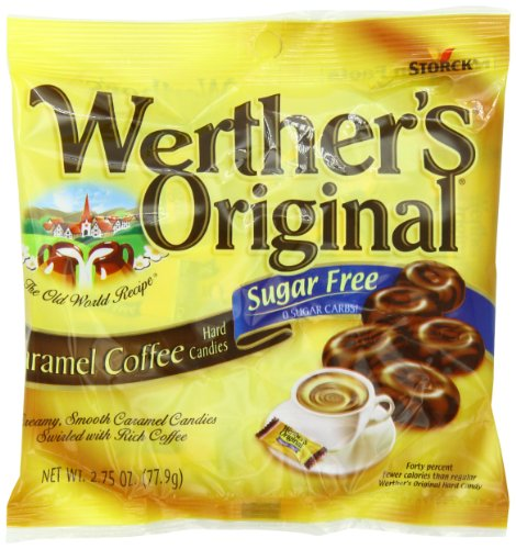 Werther's Sugar Free Hard Candies, Caramel Coffee, 2.75 Ounce Bags (Pack of 12)
