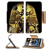 Gold Egypt Pharaoh Coffin Sarcophagus HTC One M7 Flip Cover Case with Card Holder Customized Made to Order Support Ready Premium Deluxe Pu Leather 5 11/16 inch (145mm) x 2 15/16 inch (75mm) x 9/16 inch (14mm) Liil HTC One Professional Cases Accessories Open Camera Headphone Port Graphic Covers Designed 1 Model Folio Sleeve HD Template Designed Wallpaper Photo Jacket Wifi Luxury Protector Wireless Cellphone Cell Phone