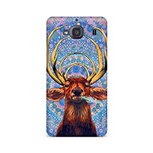 Motivatebox- Smoking Deer Premium Printed Case For Xiaomi Redmi 2s -Matte Polycarbonate 3D Hard case Mobile Cell Phone Protective BACK CASE COVER. Hard Shockproof Scratch-