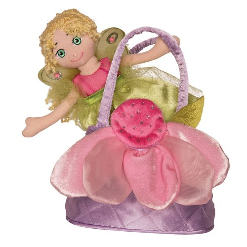"Fairy Sak with Green and Pink Fairy 8.5"" by Douglas Cuddle Toys"