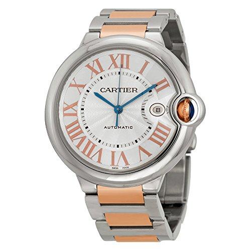Cartier Unisex Ballon Bleu De Cartier 42mm Two Tone Steel Bracelet & Case Automatic Analog Watch W6920095