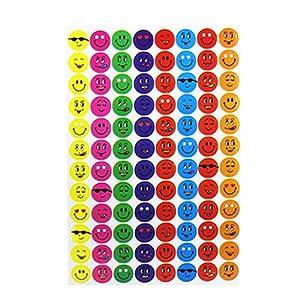 Easyfashion Children Smiley Faces Reward Stickers School Teacher Aid Potty Training