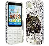 FOR NOKIA C3-01 STYLISH WHITE TIGER DESIGN PRINT HARD BACK PROTECTION CASE COVER