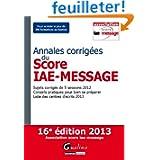 Annales corrigées du Score IAE-Message 2013