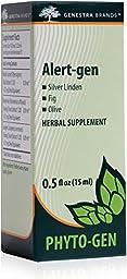 Genestra Brands - Alert-gen - Silver Linden, Fig, and Olive Herbal Supplement - 0.5 fl. oz.