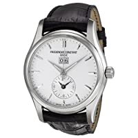 Frederique Constant Men's FC-325S6B6 Index Black Leather Strap Watch by Frederique Constant