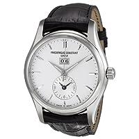 Frederique Constant Men's FC-325S6B6 Index Black Leather Strap Watch by Frederique Constant