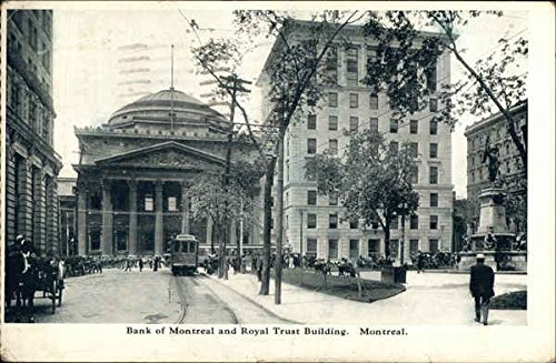 bank-of-montreal-and-royal-trust-building-montreal-canada-original-vintage-postcard