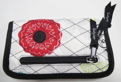 Thirty One Soft Wallet In Organic Poppy -Great To Match Tote Bag front-196465