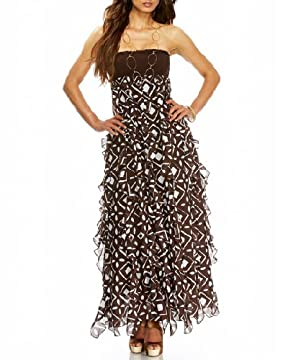 bebe.com : Strapless Smocked & Ruffled Maxi Dress :  fashion dress dresses clothing